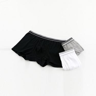 男裝貼身平口四角褲(三件裝)