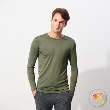 男裝Beau-warmer plus+彈力舒適圓領極暖衣
