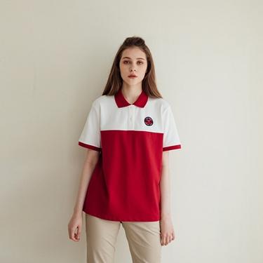 女裝動物刺繡彈性POLO衫