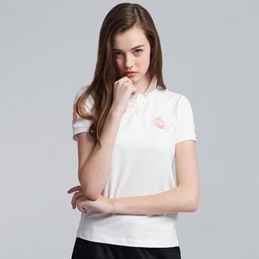 女裝馬頭立體刺繡彈力萊卡短袖POLO衫