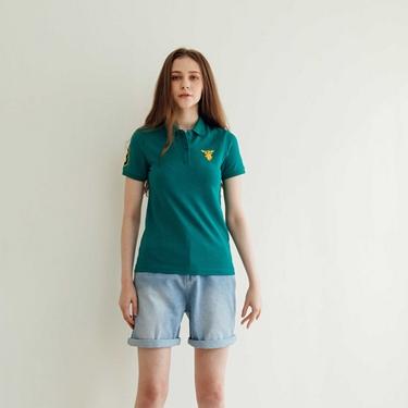 女裝麋鹿漸層刺繡短袖POLO衫