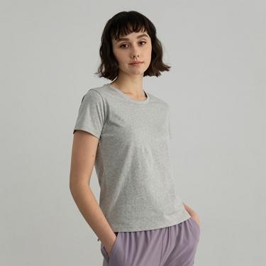 女裝素色圓領短袖T恤