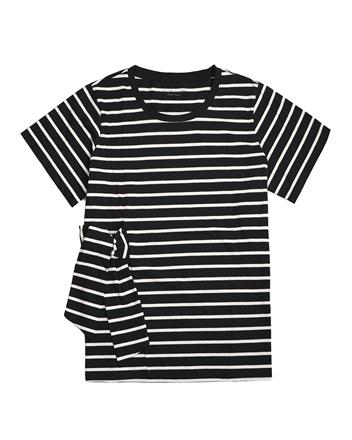 女裝素色側腰綁帶T恤