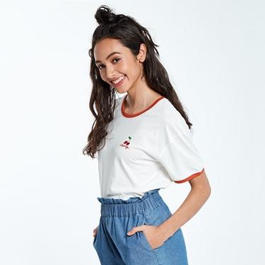 女裝清新水果刺繡短袖T恤