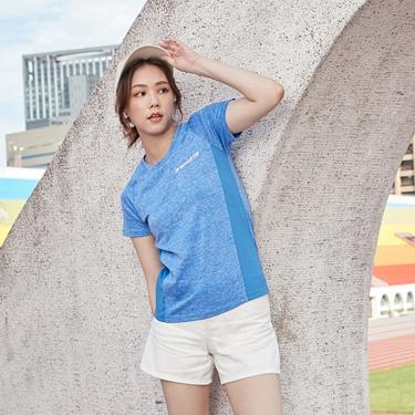 女裝運動系列吸濕排汗拼接款短袖T恤