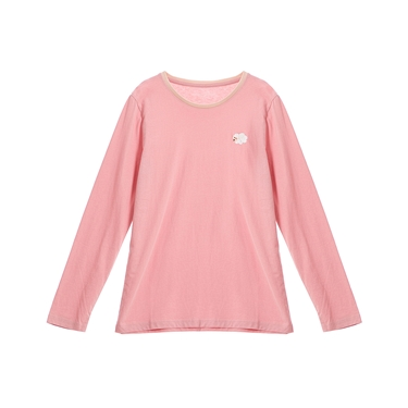 女裝Natural刺繡長袖圓領T恤