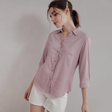 女裝全開襟七分袖襯衫