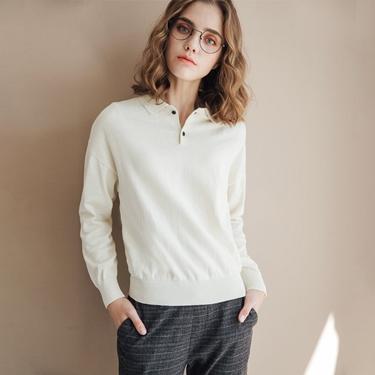 女裝POLO領針織衫