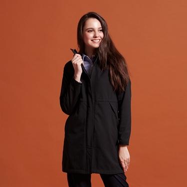 女裝 softshell防風保暖收腰長版外套