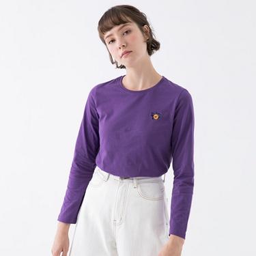 女裝小清新刺繡長袖T恤