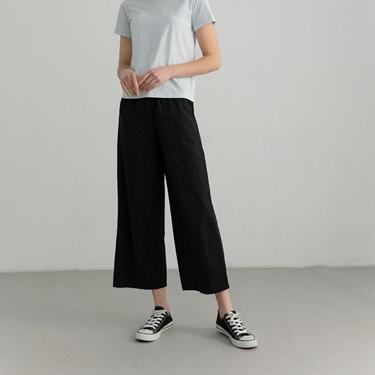 女裝純棉抽繩寬褲