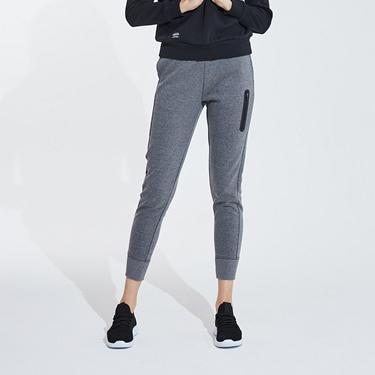 女裝雙面空氣層運動口袋休閒束口褲