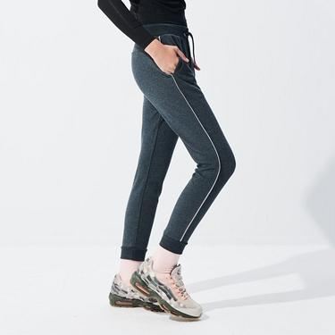 女裝側邊撞色設計運動束口褲