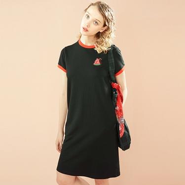 女裝純棉水果刺繡連身裙