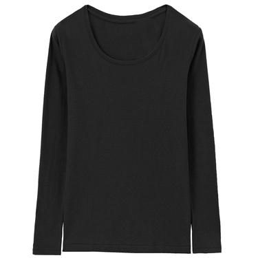 女款Beau-warmer plus+彈力舒適圓領極暖衣