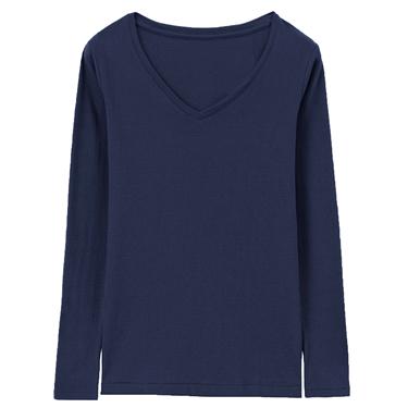 女款Beau-warmer plus+彈力舒適V領極暖衣